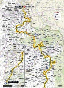 le parcours du Paris Roubaix